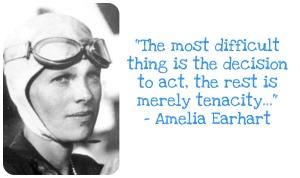 Tenacity-Amelia Earhart